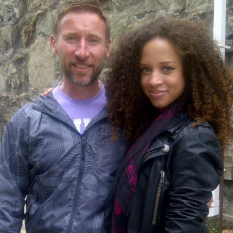 Yan with Actress Natalie Gumede